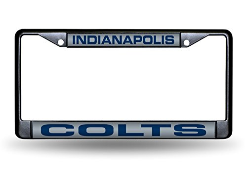 Indianapolis Colts NFL Laser Cut Black License Plate (Nfl Laser Cut License Plate)