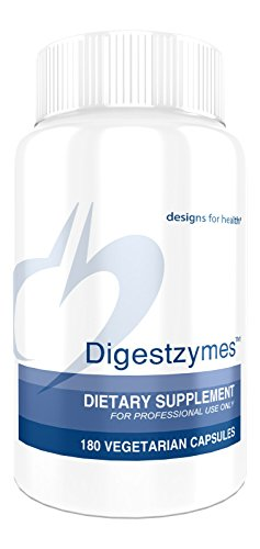 Designs for Health Digestzymes - Digestive Enzyme Supplement with Betaine HCl + Pepsin (180 Capsules) from designs for health