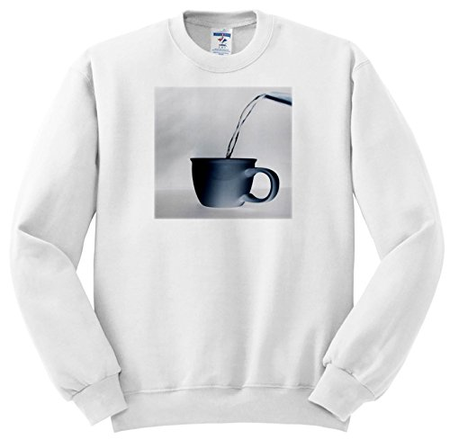 Price comparison product image 3dRose TDSwhite – Miscellaneous Photography - Water Pouring Into Teacup from Kettle - Sweatshirts - Youth Sweatshirt Small(6-8) (ss_285445_10)