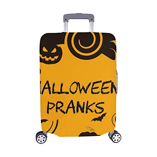 Halloween Pranks Showing Trick Treat Joker Spandex Trolley Case Travel Luggage Protector Suitcase Cover 28.5 X 20.5 Inch]()