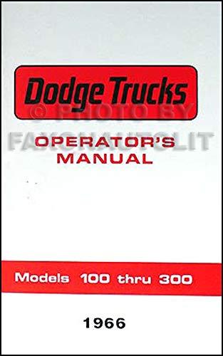 1966 Dodge Reprint Owner's Manual Pickup Truck, Van & Power Wagon