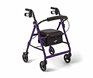 Medline aluminum rollator walker with seat for Mobility walker