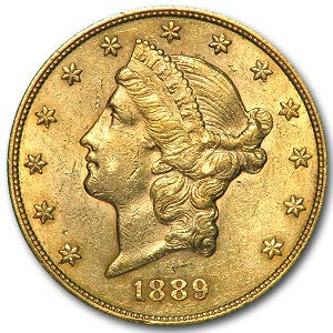 1889 S $20 Liberty Gold Double Eagle AU G$20 About Uncirculated