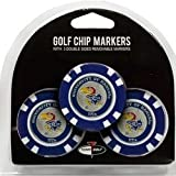 Set of 3 University of Kansas Jayhawks Poker Chips with removable Golf Ball Markers