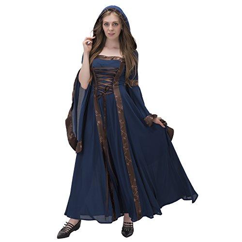 COUCOU Age Deluxe Renaissance Medieval Costume Dress Lace Decoration