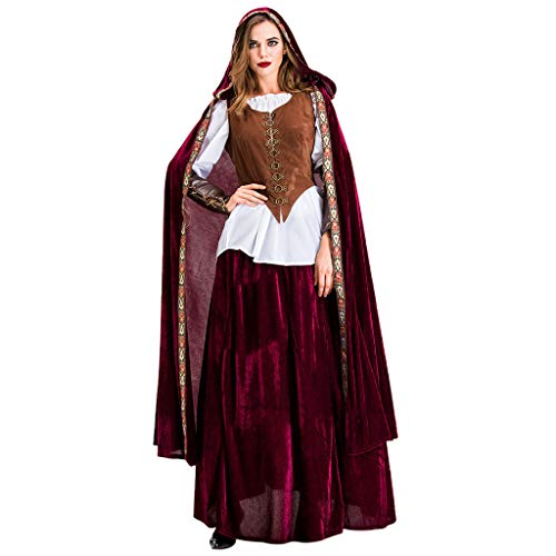 iLOOSKR Hooded Dress for Women Halloween Cosplay