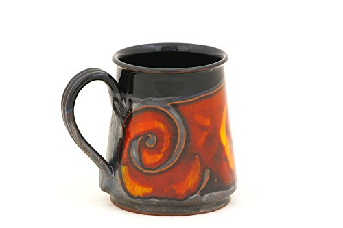 Pottery Beer Mug (Halloween Stein, Pottery Beer Mug 24oz, Ceramic Stein, Pottery Mug for Beer and Coffee, Stoneware Large Mug, Groom Gift)