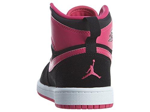 Jordan 1 vivid Alta Black Basket Pink Scarpa Air Pink Retro vivid Nike white Gp Da E5HaqHn