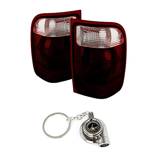 Ford Ranger (excluding 2005 STX Models) OEM Style Tail Lights Red And Smoke Lensd+Free Gift Key Chain Spinning Turbo ()