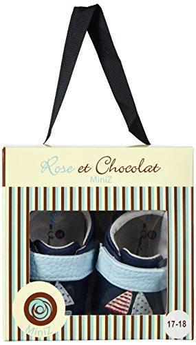 Rose & Chocolat Sailboat Navy - Zapatillas de casa Bebé-Niñas Azul - azul (marino)