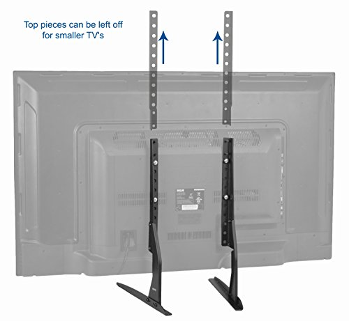 VIVO Universal LCD Flat Screen TV Table Top VESA Mount Stand Black | Base  Fits 22