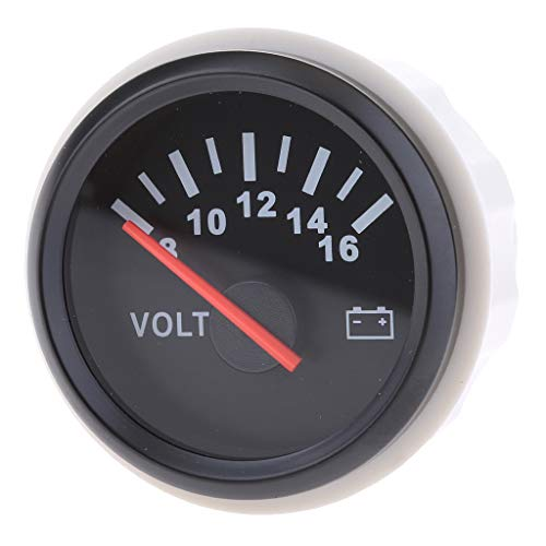Flameer 2'' Waterproof Boat Marine Compact Dashboard Battery Gauge Voltmeter 9-32V DC 316L - N3 by Flameer