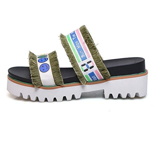 Donna Verde Caviglia Aperte sulla UH qxzwvtxI