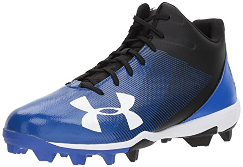 Under Armour Men's Leadoff Mid RM Baseball Shoe, Black (041)/Team Royal, 8.5 (Athletic Baseball Cleats)