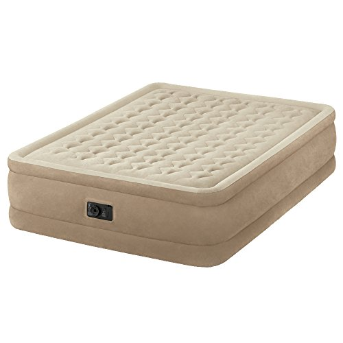 Intex Queen Size Fiber-Tech Ultra Plush Raised Airbed with Built-in...