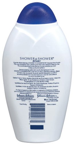 shower to shower absorbent body powder sport 13 ounce