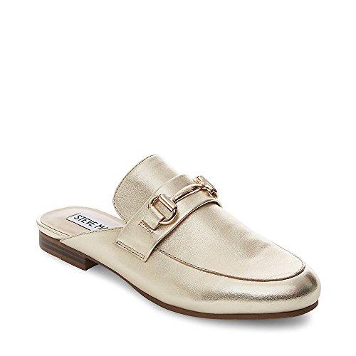 Steve Madden Women's Kandi Slip-on Loafer Gold Leather