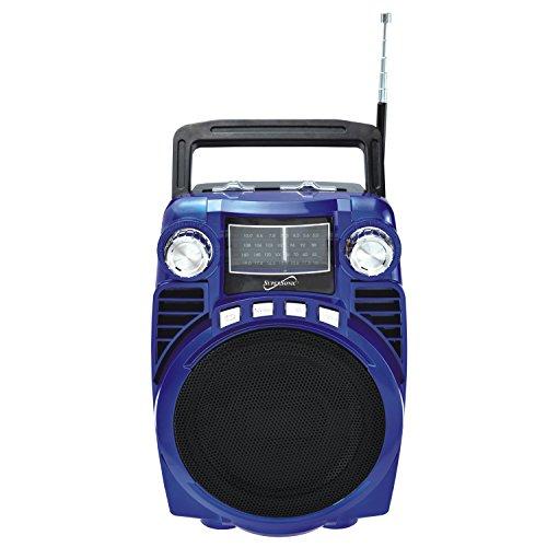 SuperSonic Bluetooth Portable 4 Band Radio, Blue  (SC-1390BT)