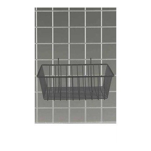 Black Powder Coat Finish Mini Grid Basket 12''l X 12''w X 4''d