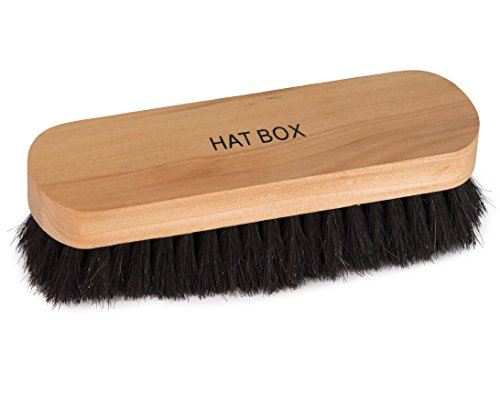 100% Horsehair Shoe Brush With Ergonomic Natural Wood Handle - Polish and Shine Leather and Synthetic Boots and Footwear - by HBNY