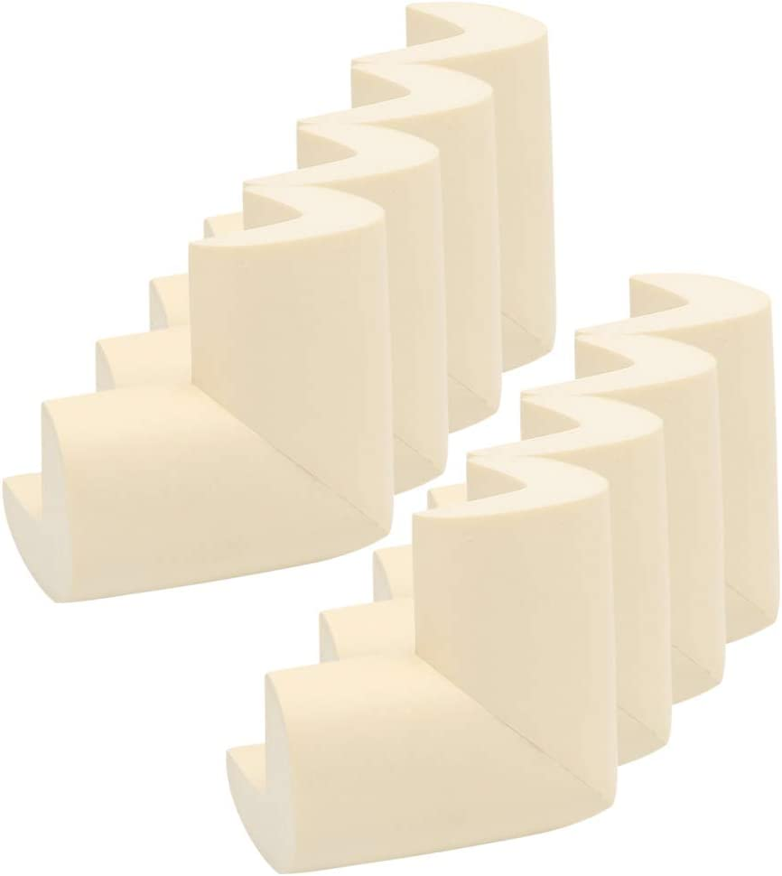 Beige 12 pcs YOFASEN Baby Safety Corner Protectors Guards Child Soft Thick Baby Safety Products Table Corner Furniture Protection