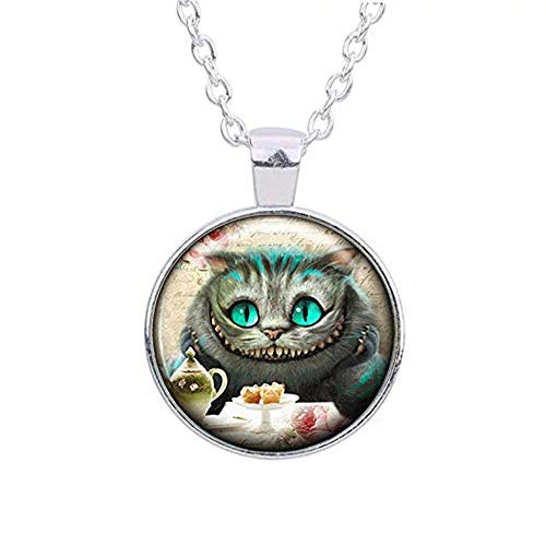 (Vintage Alice in Wonderland Pendant Necklace - Cheshire Cat Jewellery)