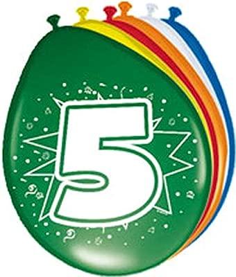 Globo Globos Número 5 Cumpleaños 8 ST. Fiesta Globos: Amazon ...