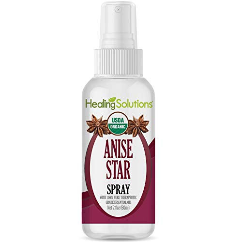 Organic Anise Star Spray - Made from 100% Pure Anise Star Essential Oil - Certified USDA Organic - 2oz Bottle by Healing Solutions