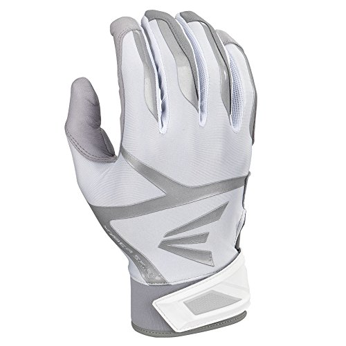 Easton Z7 VRS Hyperskin Batting Gloves, Gray/White, Medium