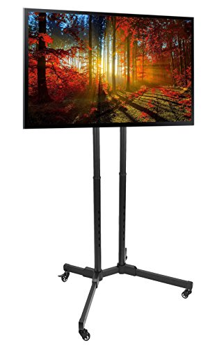 VIVO TV Cart for LCD LED Plasma Flat Panels Stand with Wheels Mobile fits 32' to 65' (STAND-TV01A)