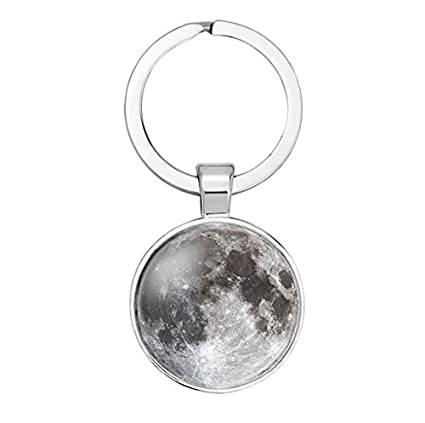 Amazon.com : Crescent moon Full Moon Key Ring, Full Moon ...