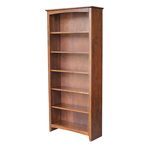 - International Concepts Shaker Bookcase, 72-Inch