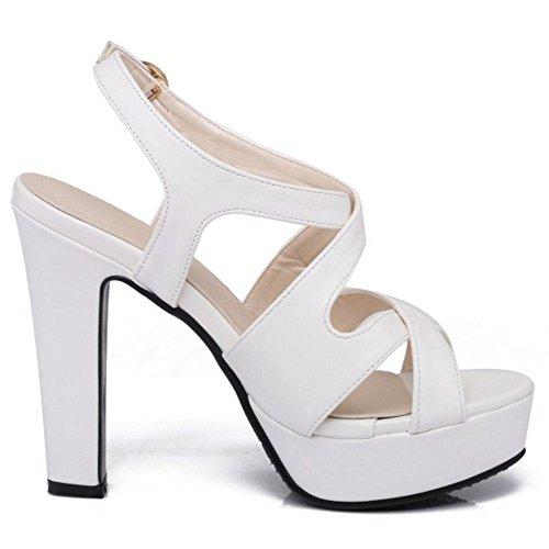 Melady Mode White Plateforme Femmes Sandales rBYx4Bpq