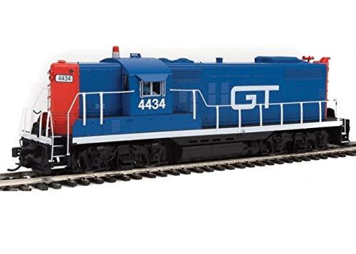 EMD GP9 - Standard DC -- Grand Trunk Western #4434 (blue, red, - Scale Ho Grand Trunk