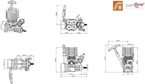 Nitromotor 12S SZ 2.11 ccm 1.4 PS 1.03 kW FORCE Engine E-1206P 250008 by partCore
