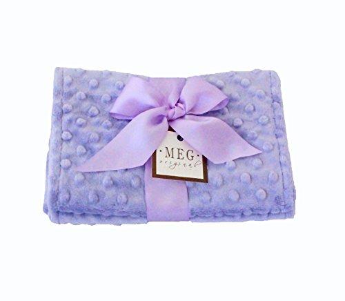 MEG Original Lavender Minky Dot Baby Girl Burp Cloth Set 112