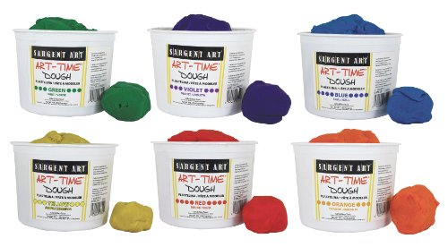 Sargent Art 6 Color Dough Set, 3 Pounds Each, Art-Time Artist Dough, 18-Pound Assortment by Sargent Art