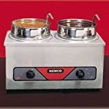 Nemco 6120A Food Warmer, Countertop, 4 Qt. Twin Wells, 120 v. 700 Watts (Insets