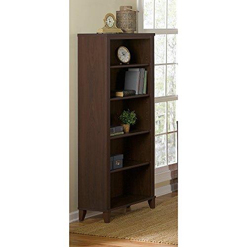 Accent Furniture Cherry - Bush Furniture WC81865 Somerset 5 Shelf Bookcase, Mocha Cherry