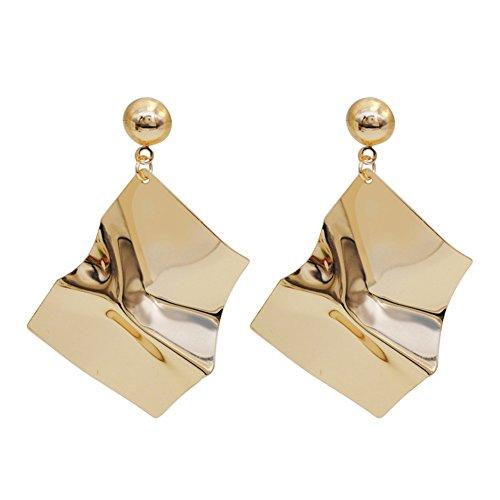 Velsinity Statement Geometric Earrings Gold Dangling Designer Earrings for Sisters Friends