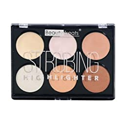 Beauty Treats Strobing Highlighter Palette Light Colors
