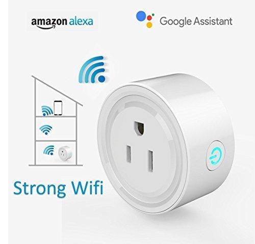 Wi-Fi Alexa Mini Smart Plug, Alexa Outlet, Smart Socket Works with Alexa and Google Assistant (2 Packs)