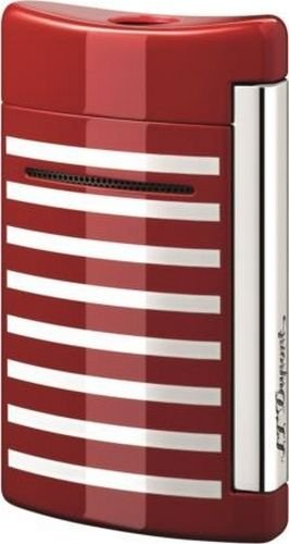 st-dupont-minijet-red-with-white-stripes-torch-flame-lighter-10107