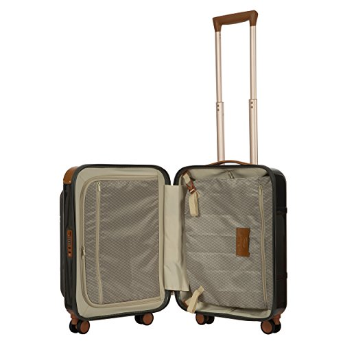 Bric de Bellagio professionnel 53,3 cm Spinner Trunk Carry On bagages, noir (noir) - BBG28311.902
