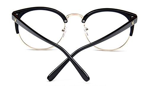 redonda met¨¢lica media vendimia salvaje simple de montura del tendencia llano estructura versi¨®n gafas la coreana la marco espejo de de Embryform wX0zgSq
