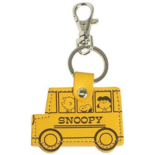 Peanuts Snoopy - Llavero de piel amarillo, diseño de autobús ...