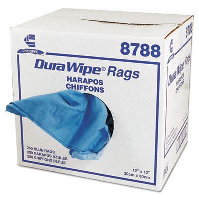 CHI8788 - DuraWipe Creped Blue Towels, 12quot; x 12quot;