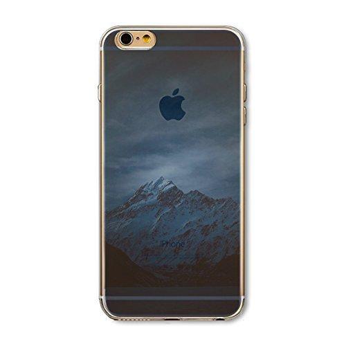 Coque iPhone 5 5s Housse étui-Case Transparent Liquid Crystal en TPU Silicone Clair,Protection Ultra Mince Premium,Coque Prime pour iPhone 5 5s-Paysage-style 27