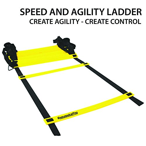 Pro Agility Ladder Fitness Ladder Improve Speed and Footwork comes with Ladder Drills eBook, Bag, Pegs Ideal For Soccer Football Training By Endurance Pro