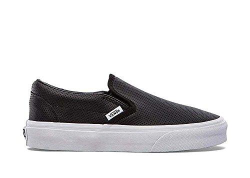 Vans Womens Classic Slip-On (Perf Leather) Black VN-0XG8DJ6 4.5